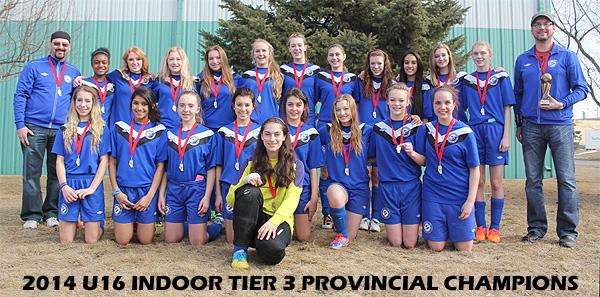 2014 U16 Tier 3 Alberta Soccer Indoor Provincial Champions