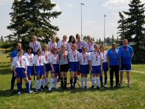 U15 Girls Freeman's team Silver medal  winners - Kickoff Classic  .