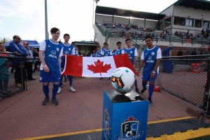 Representing Selects FC & Allstate Insurance at the FC Edmonton Game